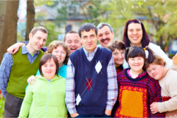 group of people of down syndrome